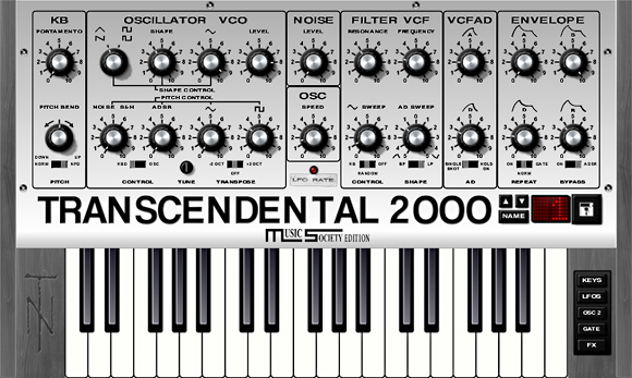 Transcendental 2000 vsti Music Society Edition